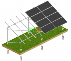UB Steel Pipe Solar Ground Mounting System